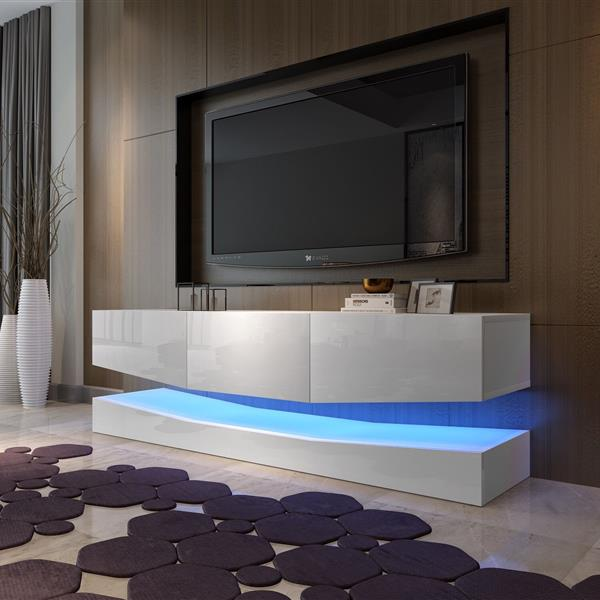 178cm Double Wall LED TV Cabinet  [A B Box Delivery] White