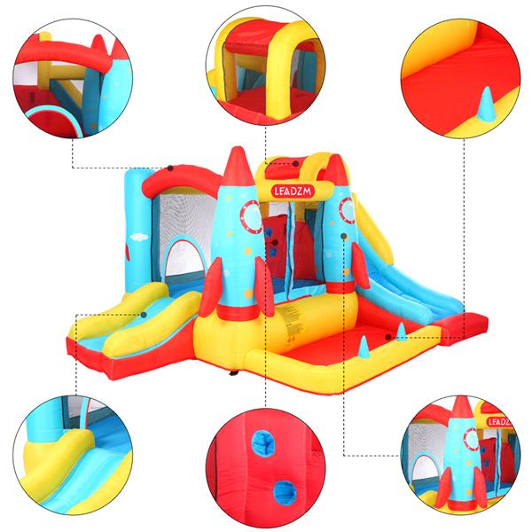 LEADZM BH-113 Rocket Inflatable Castle 420D Oxford Cloth  840D Oxford Cloth Jump Surface