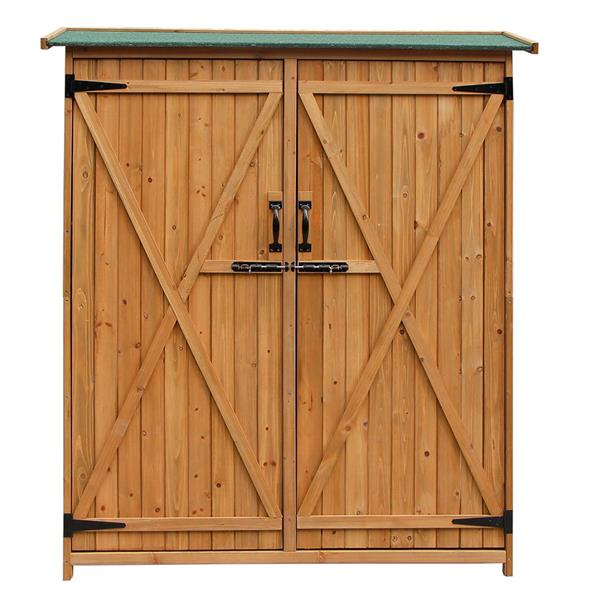 Fir Wood Shed Garden Storage Shed Wood Color & Green Part B