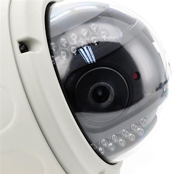 Wireless Sricam CMOS 1.0MP IP Camera with 4mm Lens and Pan-tilt P2P US Standard Plug White