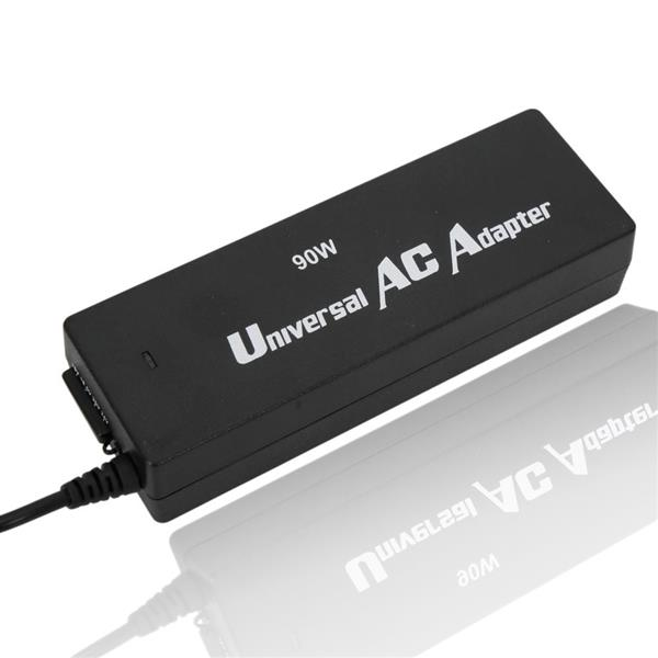 15V-24V 90W Universal Laptop AC Power Charger Adapter with 10 Plugs Black (Without Cable)