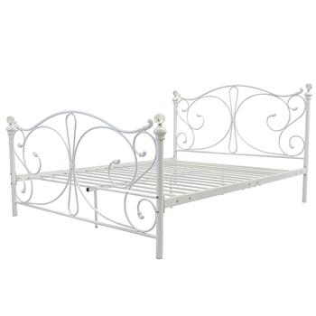 BD-7006 4FT6 Double Size Double Iron Bed King Size White