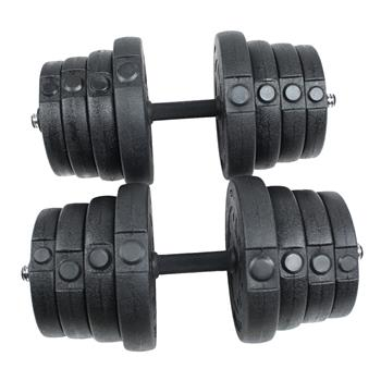 Body Building Apparatus Household Dismountable 30KG No Smell Eco-friendly Package Plastic Dumbbell Black