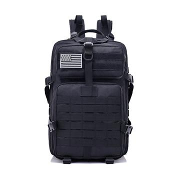 Camping Survivals Every Day Carry Tactical Assault Pack Backpack Rucksack Molle Camping 40L Black