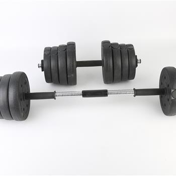 Body Building Apparatus Household Dismountable 30KG No Smell Eco-Friendly  Package Plastic Dumbbell