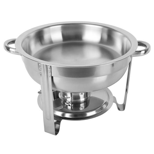 ZOKOP 5L-1 Single Pot One Set Stainless Steel Round Buffet Stove