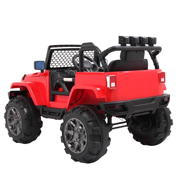 LEADZM LZ-905 Remodeled Jeep Dual Drive 45W * 2 Battery 12V7AH * 1 With 2.4G Remote Control Red