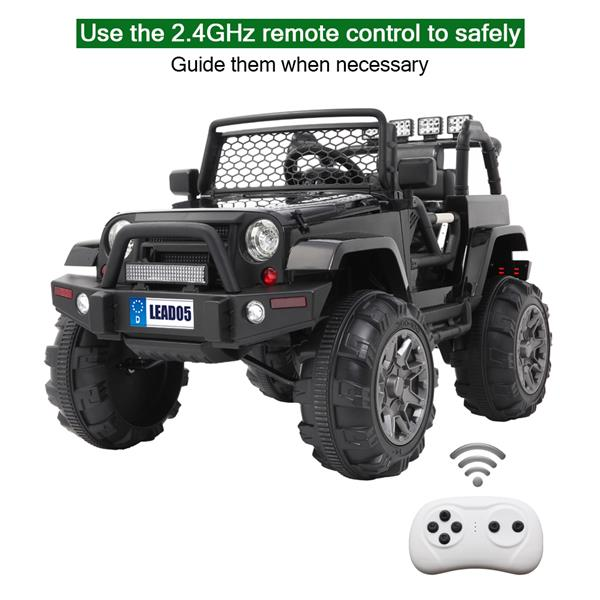 LEADZM LZ-905 Remodeled Jeep Dual Drive 45W * 2 Battery 12V7AH * 1 with 2.4G Remote Control Black