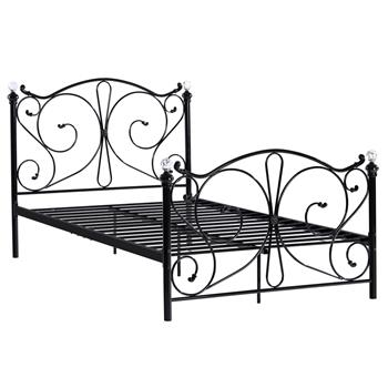 Iron Double Bed Black