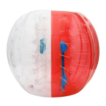 Translucent Nail Inflatable Bumper Ball Red