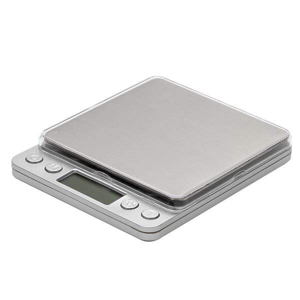 3KG/0.1g Small Jewelry Electronic Scale High Precision Two Pallets(I3000) Silver
