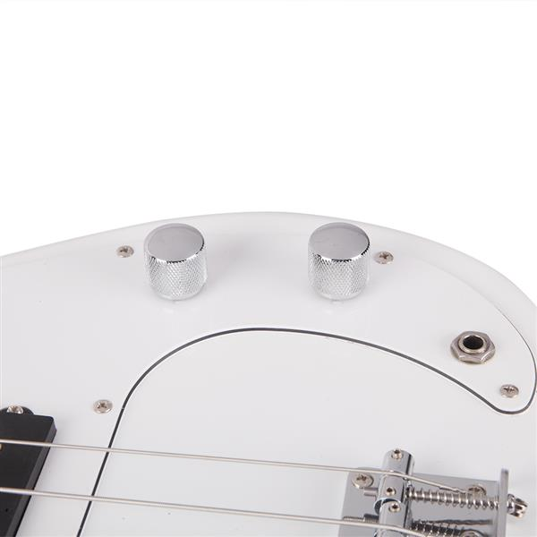 Glarry GP Electric Bass Guitar Cord Wrench Tool White