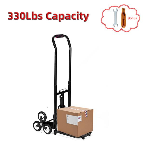 [US-W]Oshion Portable Stair Climbing Cart 330 lbs Capacity with 6 Wheels