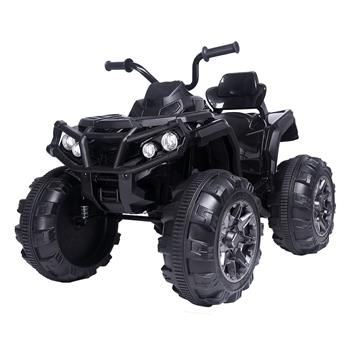 12V Kids Electric 4-Wheeler ATV Quad Ride On Car Toy with 3.7mph Max Speed, Treaded Tires, LED Headlights, AUX Jack, Radio