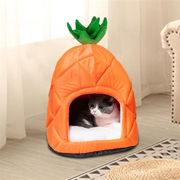 [HOBBYZOO] Pet House Pineapple Cave Sleep Bed Cat Dog Tent