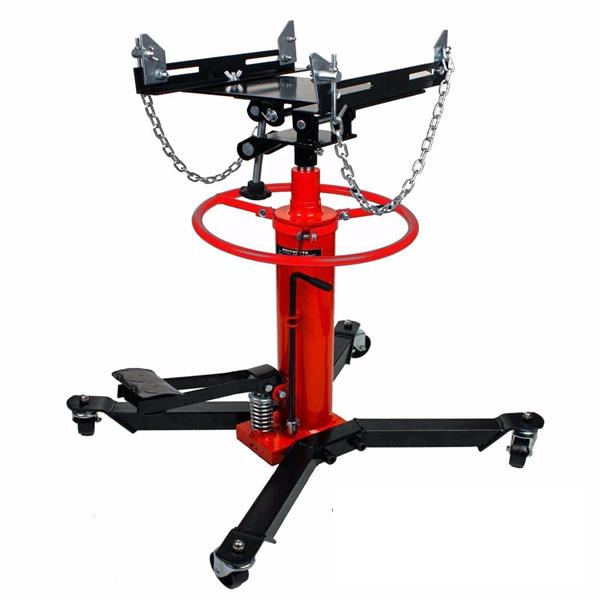 1100LBS 2 Stages Hydraulic Transmission Jack with 360° Swivel Wheels Lift Hoist