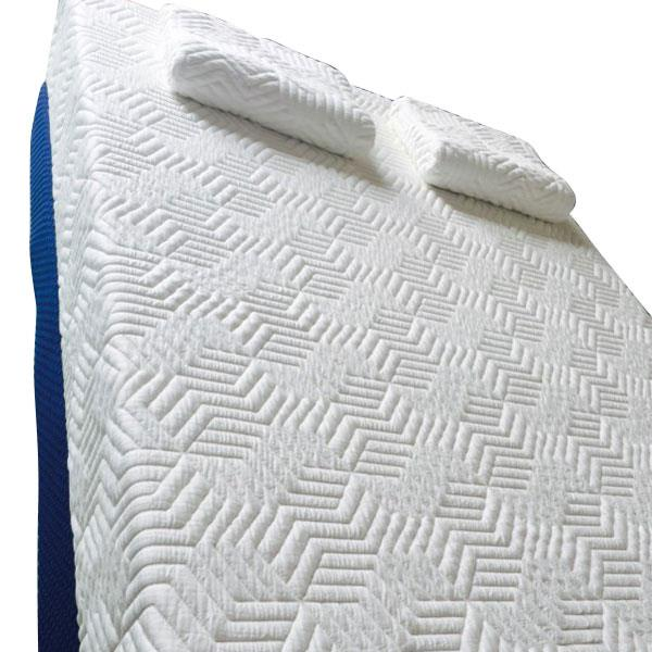 "[US-W]14"" Three Layers Cool Medium High Softness Cotton Mattress with 2 Pillows (Queen Size) White"