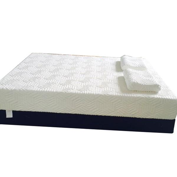 "[US-W]10"" Three Layers Cool Medium High Softness Cotton Mattress with 2 Pillows (Queen Size) White"