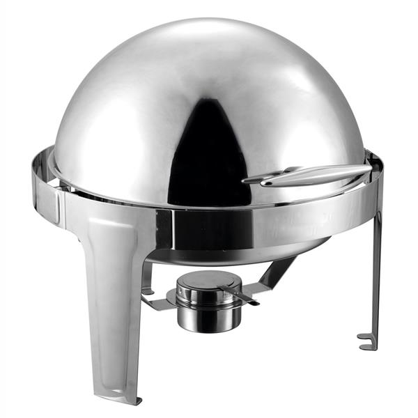 ZOKOP Stainless Steel Top-Grade Round Clamshell Buffet Stove