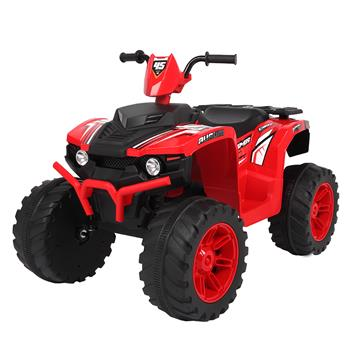 LEADZM LZ-9955 ALL Terrain Vehicle Dual Drive Battery 12V7AH*1 without Remote Control with Slow Start Black & Red