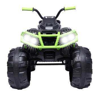 LEADZM Upgraded LZ-906 ATV Double Drive Children Car with 45W*12 12V7AH*1 Battery without Remote Control Black and green