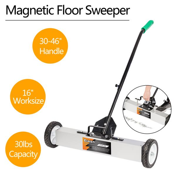 """Oshion 24"""" Magnetic Pick-Up Sweeper with Wheels"""