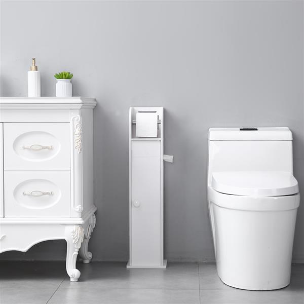 Narrow Cabinet for PVC Toilet Paper Towel with Paper Roll (19 x 19 x 77)