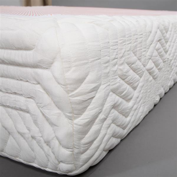"10"" Three Layers Cool Medium High Softness Cotton Mattress with 2 Pillows (Twin Size) White"