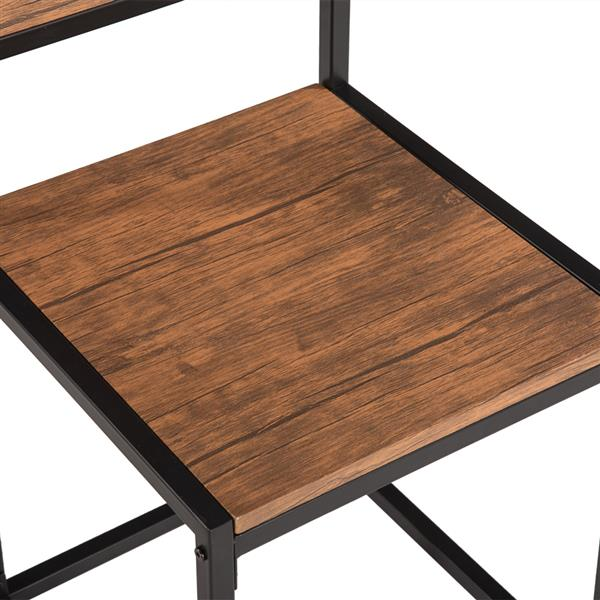 Elm Wood Simple Breakfast Table And Chair Three-Piece [90x47x75.5cm]