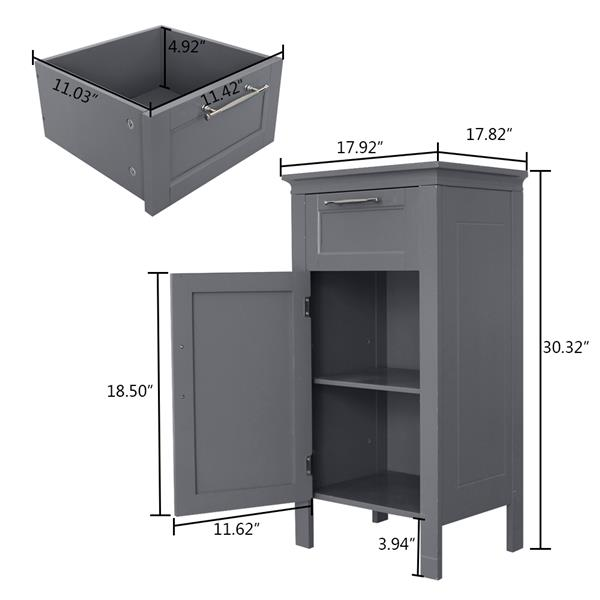 FCH One Drawer And One Cabinet Gray
