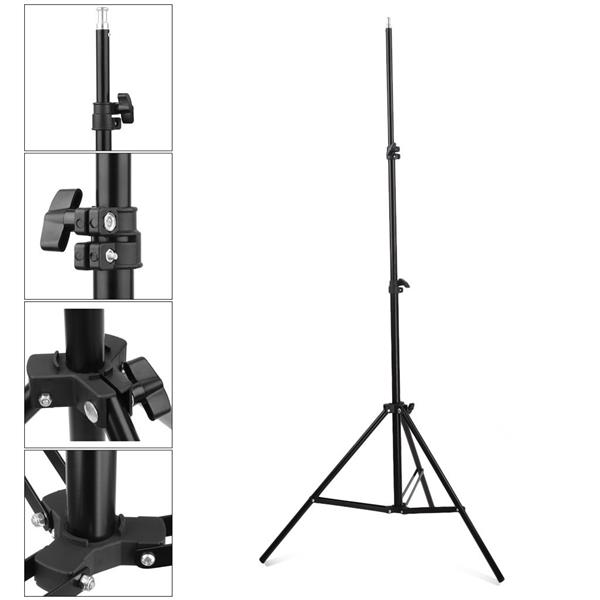 Kshioe Professional Photo Video Studio 500W Stepless dimming Continuous Barndoor Light Head Photography