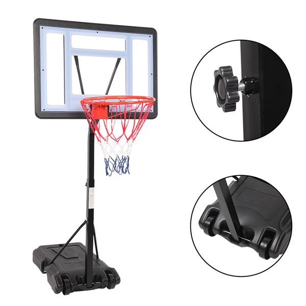 HY-B064S Portable Movable Swimming Pool PVC Transparent Backboard Basketball Stand (Basket Adjustment Height 1.15m-1.35m) Maximum Applicable For 7 # Ball