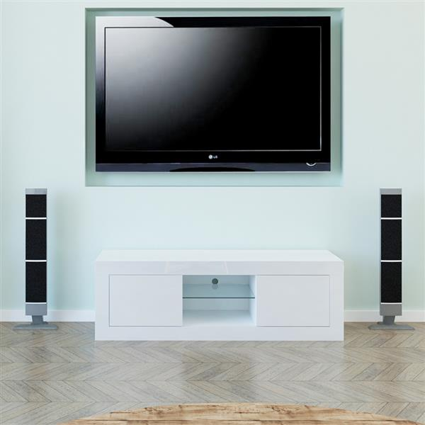 LED Two Door TV Cabinet White