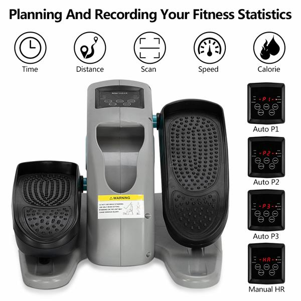 [US-W]Elliptical Machine Leg Trainer ABS   Iron American Plug Electric Model With Remote Control Blue & Gray (This item is not allowed to sell on Amazon)