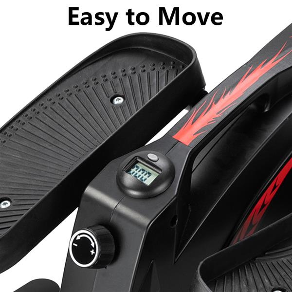 Elliptical Trainer ABS   Iron Non-electric Model  Black & Red