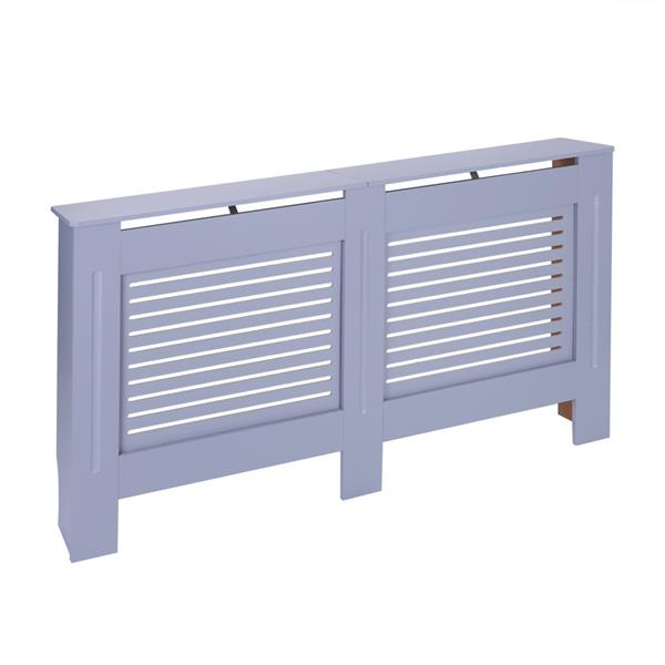 MDF Wood Radiator Cover Board Stripe Pattern Gray Painted M
