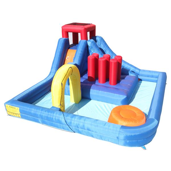 New Inflatable Water Slide Bouncer,River Race Area,Climbing Wall ,Water Cannon And Hose For Kids