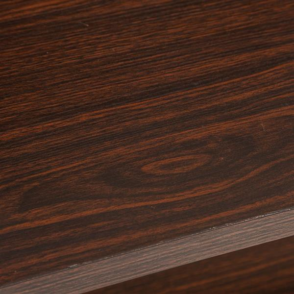 (140x34x76cm) Industrial Style Cross Porch Table on the Back of the Third Floor Black Walnut Color