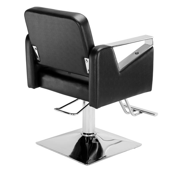 Classic Square Barber Chair Boutique Grooming Chair Black