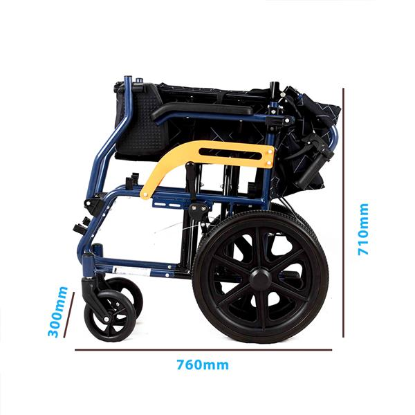 Wheelwing Ultra Lightweight and Foldable Aluminium Frame Portable Transit Travel Chair Attendant-Propelled Wheelchair 2020 New