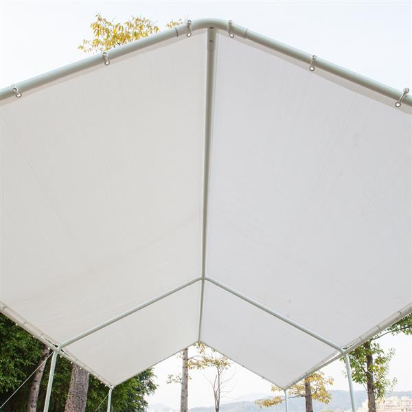 3x6 Carport Car Canopy Versatile Shelter Car Shed with 6 Foot Tubes White