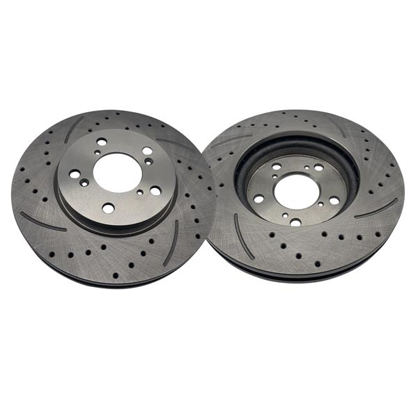 1 Set /2 BD126353 31368 Streaked Front Brake Disc Silver