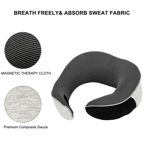 [US-W]Functional Neck Pillow SN-FC583 Hook and Loop Fastener Grey