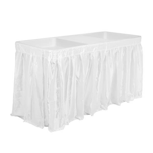 5-Foot Folding Party Ice Table with Tablecloth