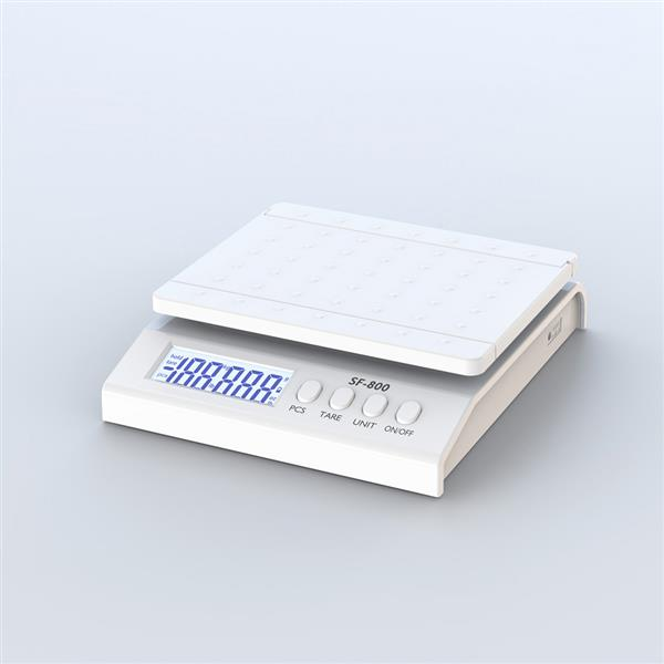 SF-800 30KG / 1G High Precision LCD Digital Postal Shipping Scale with Adapter White