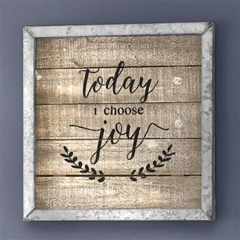 (旧编码:43084878)TODAY I CHOOSE JOY FRAMED ART/ NATURAL (MR 127R2)