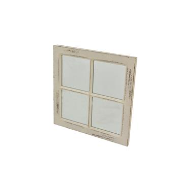 (旧编码:48759910)WHITE DISTRESSED WOOD FRAMED MIRROR (MR 314R1)