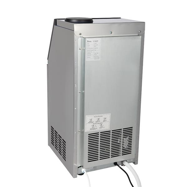 ZOKOP BY-70PF 495W 50KG / H 120V / 60Hz US Standard Stainless Steel Transparent Cover Commercial Ice Machine