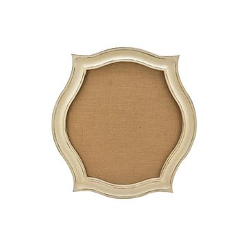 Whitewash Scallop Framed Wall Mounted Pinboard