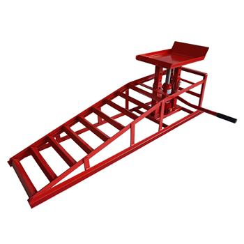 1 x 2T Auto Car truck Service Ramp Lift Heavy Duty Hydraulics Repair Frame Red